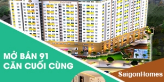 Mở bán những căn hộ cuối cùng dự án căn hộ Saigonhomes Bình Tân