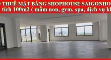 CHO THUÊ MẶT BẰNG SHOPHOUSE KINH DOANH SAIGONHOMES - 0943 78 2456